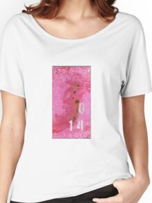 Trashed, scratched, rusted and dented - Q 14 Pink Women's Relaxed Fit T-Shirt