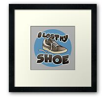 I Lost My Shoe Framed Print