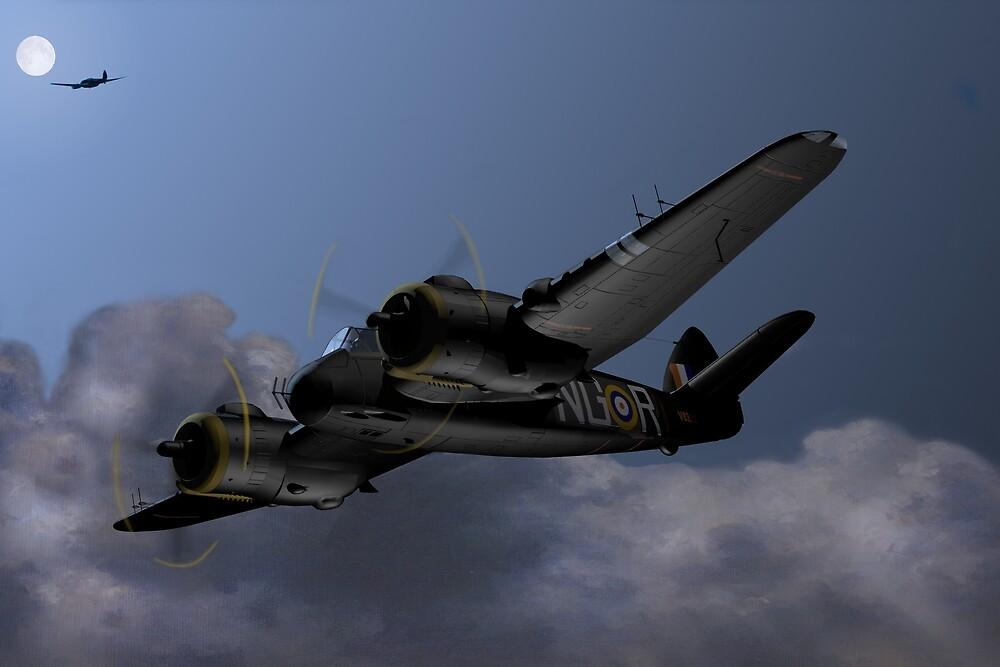 Cats Eyes, (Bristol Beaufighter nightfighter) by coldwarwarrior