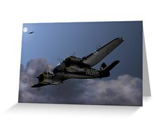 Cats Eyes, (Bristol Beaufighter nightfighter) Greeting Card