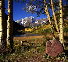 The Maroon Bells by Mike Norton