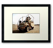 MRAP in Iraq Framed Print