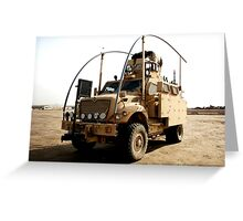 MRAP in Iraq Greeting Card