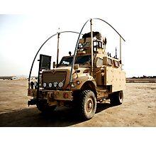 MRAP in Iraq Photographic Print