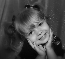 Little Girl Smiling  by Evita