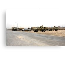 Iraqi Army Convoy Canvas Print