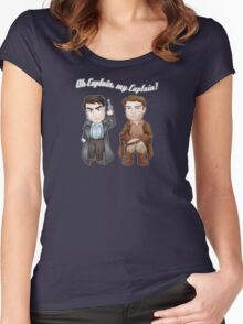 Oh Captain, My Captain! Women's Fitted Scoop T-Shirt