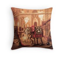 In the factory Throw Pillow
