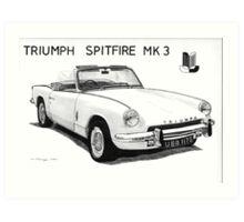 Triumph Spitfire Art Print