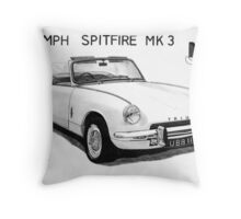 Triumph Spitfire Throw Pillow