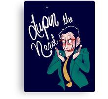 Lupin the Nerd Canvas Print