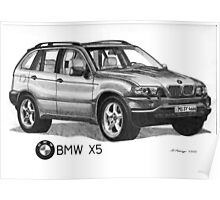 BMW X5 4.4i Poster