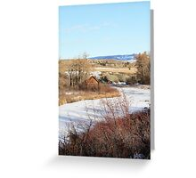 Cabin on the Riverside Greeting Card