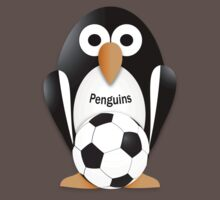 Penguin with soccer ball Baby Tee