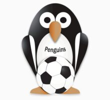 Penguin with soccer ball One Piece - Short Sleeve