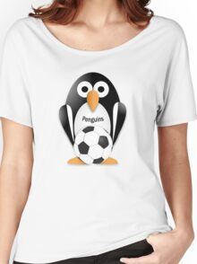 Penguin with soccer ball Women's Relaxed Fit T-Shirt