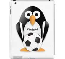 Penguin with soccer ball iPad Case/Skin