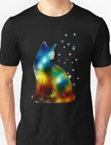 Galactic Space Cat On Milky Way, Cat, Space, Galaxy Unisex T-Shirt