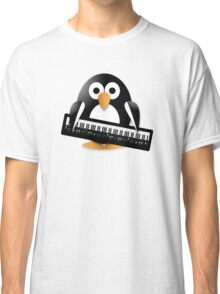 Penguin with piano keyboard Classic T-Shirt