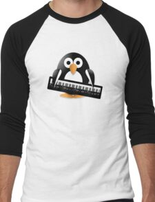 Penguin with piano keyboard Men's Baseball ¾ T-Shirt