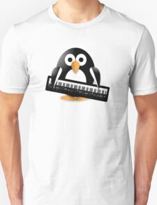 Penguin with piano keyboard T-Shirt