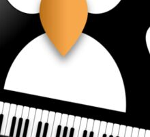 Penguin with piano keyboard Sticker
