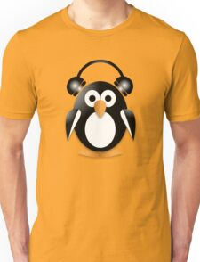 Penguin with headphones Unisex T-Shirt