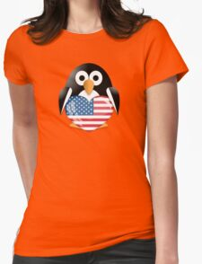 Funny penguin Womens Fitted T-Shirt