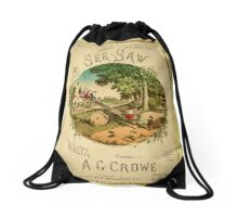 The See-Saw Waltz Lithograph Drawstring Bag