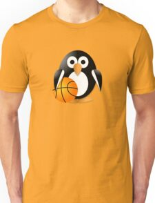 Penguin with a basketball ball Unisex T-Shirt