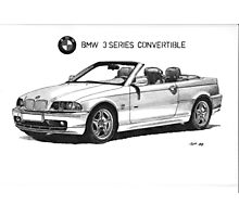 BMW e46 3 series Convertible Photographic Print