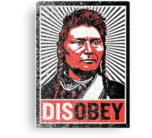 Chief Joseph Disobey Canvas Print
