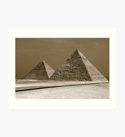 The Wonder of Giza Art Print