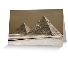 The Wonder of Giza Greeting Card