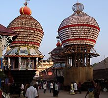 Temple Cars, Udupi by Syd Winer