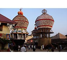 Temple Cars, Udupi Photographic Print