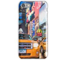 Taxis in Times Square, New York iPhone Case/Skin