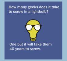 Funny Nerd Lightbulb Joke T-Shirt