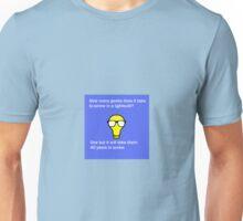 Funny Nerd Lightbulb Joke Unisex T-Shirt