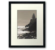 Moffat Headland Sepia Framed Print