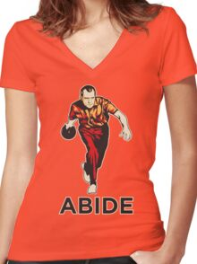 Bowling Nixon Abide  Women's Fitted V-Neck T-Shirt