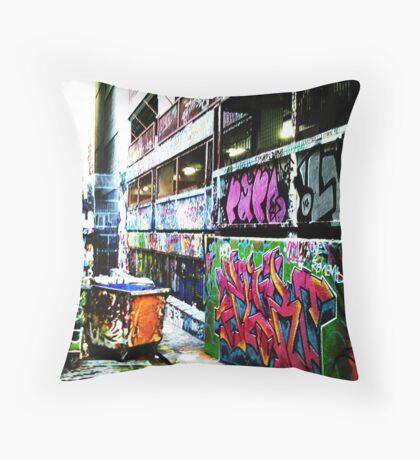 Melbourne Graffiti 2 Throw Pillow