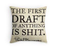 First Drafts Throw Pillow