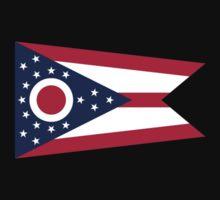 Ohio Columbus USA State Flag Bedspread T-Shirt Sticker One Piece - Short Sleeve