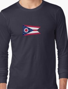 Ohio Columbus USA State Flag Bedspread T-Shirt Sticker Long Sleeve T-Shirt