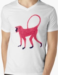 Red Monkey Mens V-Neck T-Shirt