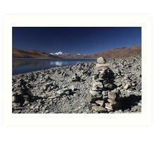 Highest lake in Tibet Art Print