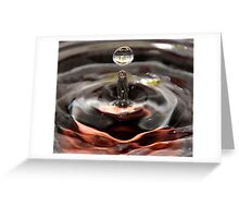 Water Drop with DOF... Greeting Card