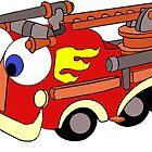 Little Red Firetruck by redqueenself