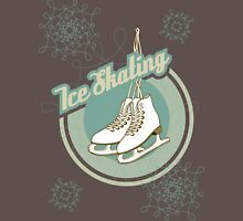 Iсe skating in retro style  Mens V-Neck T-Shirt